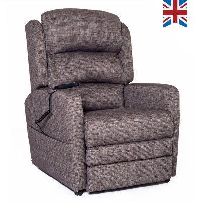 Charcoal Bracken Riser Recliner Chair with Dual Motors and USB Connectivity