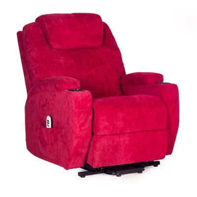 Burlington Fabric Dual Motor Riser Recliner Chair
