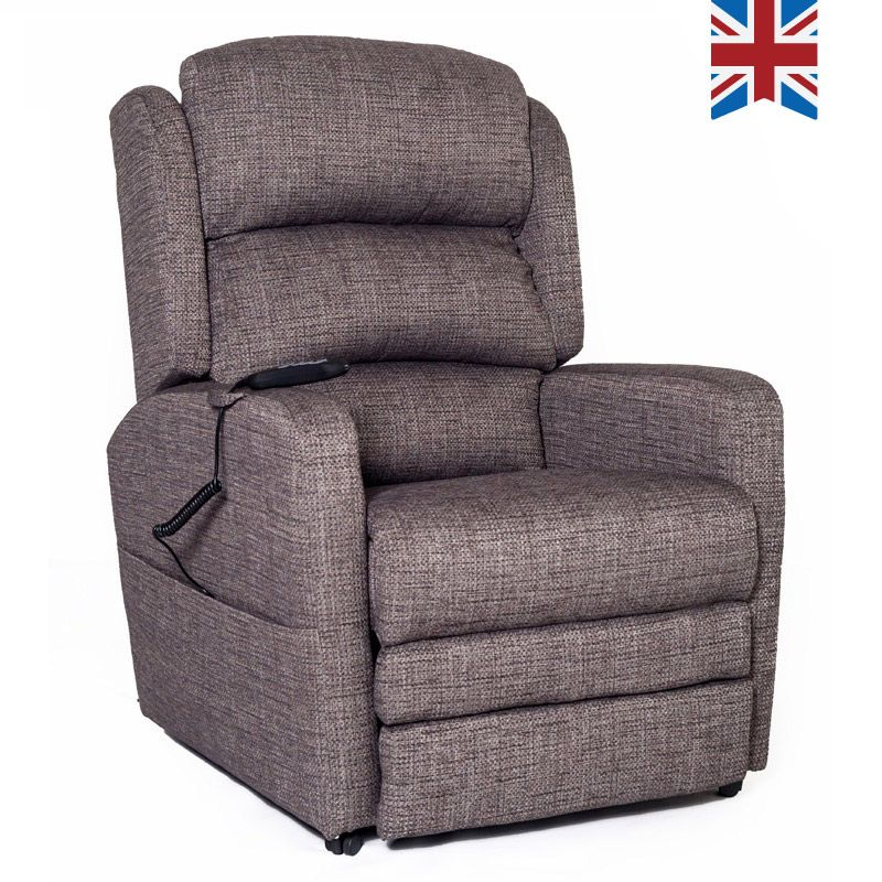 Beige Bracken Riser Recliner Chair with Dual Motors and USB Connectivity