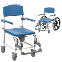 Aston Mobile Shower Commode Chair Heavy Duty