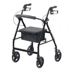 Lightweight rollator with bag