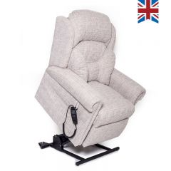 Beige Braithwaite Riser Recliner Chair - Forward Extended