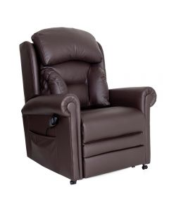 Cullingworth Laterall Back Dark Chocolate Brown Leather - Ex Demo