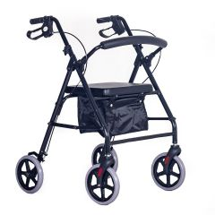 "Elite lightweight rollator with bag 8"" wheels"