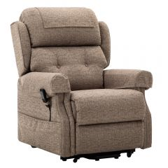Oakworth power headrest Dual riser recliner chair