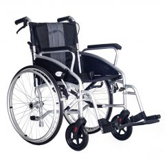 Ultra Lightweight folding self propel wheelchair ECSP08-BLK