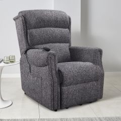Highgate dual motor grey riser recliner chair