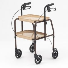 Indoor Mobility Rollator with Brakes