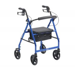 BLUE Lightweight rollator with seat and bag