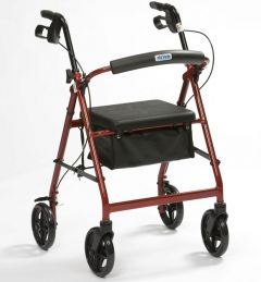 Lightweight Rollator with Seat and Bag