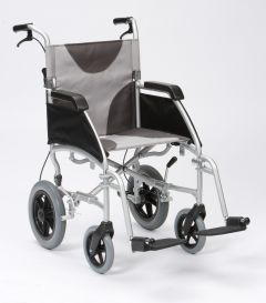 "Ultra Lightweight 20"" wide seat transit wheelchair"