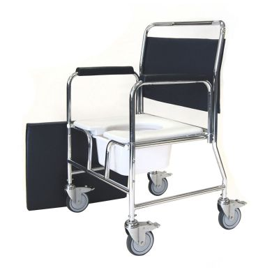 Heavy Duty Bariatric Mobile Commode Chair