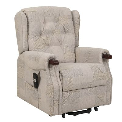 Warwick dual riser recliner chair with wooden knuckles