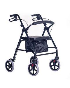 "Elite lightweight rollator with bag 8"" wheels"