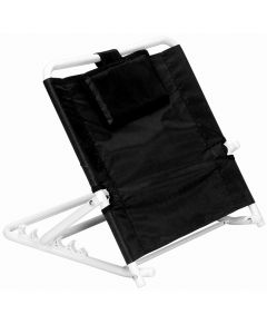 Adjustable angle folding bed backrest