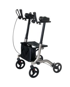 Forearm rollator walker with adjustable arm supports