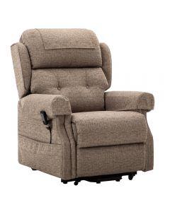 Oakworth power headrest Dual riser recliner chair.