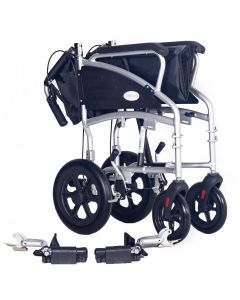 Ultra lightweight transit wheelchair with brakes ECTR08