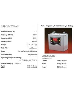 2 X MK Power 12V 50ah Gel Mobility Scooter Batteries M22NF SLD G