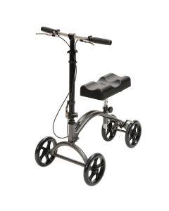 Knee walker with adjustable handle and brakes