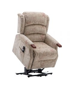 Leicester Dual Riser Recliner Chair with Wood Knuckles