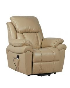 Luxor leather dual motor riser recliner chair