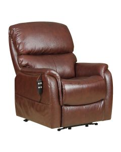 Montreal tilt in space Dual Motor Leather Riser Recliner Chair