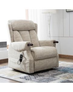 Denmark dual riser recliner chair with wooden knuckles