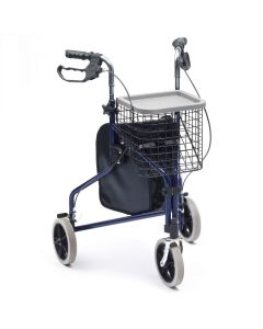 Tri Walker with Basket and Tray - Blue