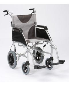 "Ultra Lightweight 20"" wide seat transit wheelchair"