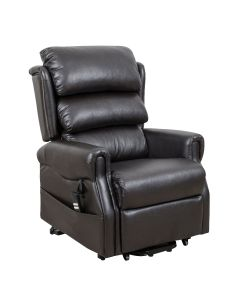 Weston dual motor rise and recliner faux leather chair