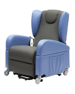 Brookfield Winged Dual Riser Recliner Chair with large castors