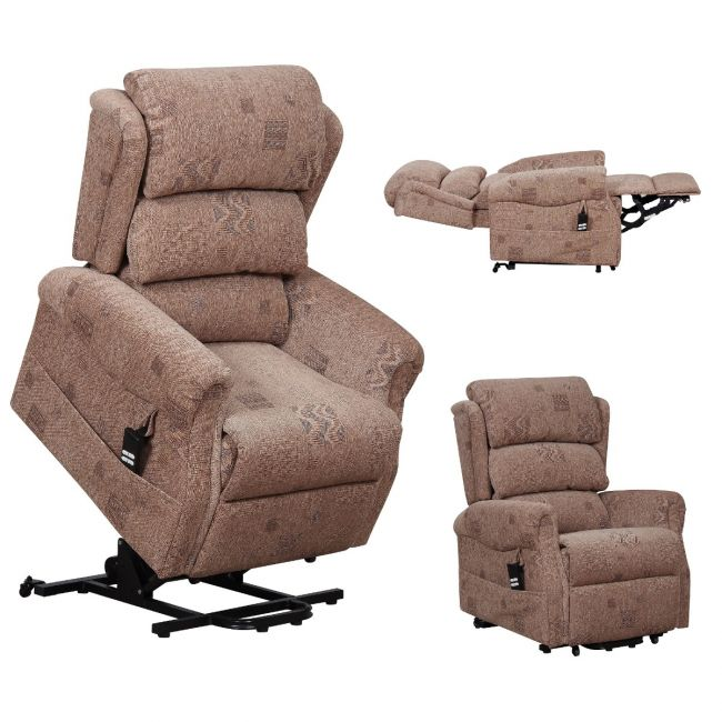 Axbridge electric recliner chair - fully extended
