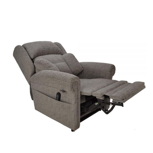 Cullingworth Dual Motor Rise Recliner Chair with Powered Headrest and Lumbar - Semi Reclined