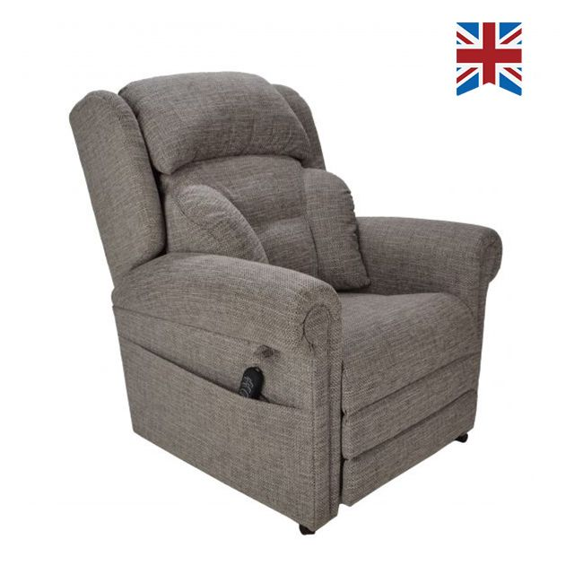 Cullingworth Dual Motor Rise Recliner Chair with Powered Headrest and Lumbar
