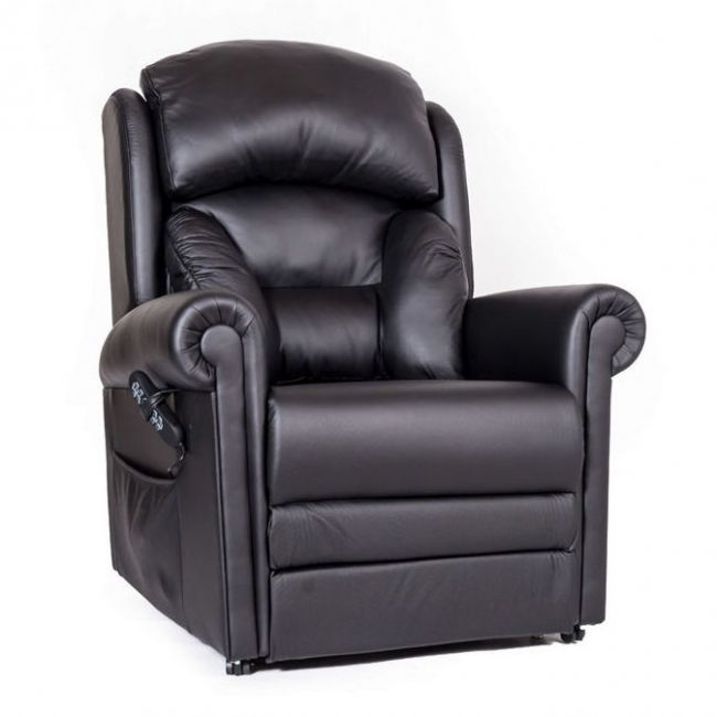 Cullingworth Leather Rise Recliner Chair with Powered Headrest and Lumbar