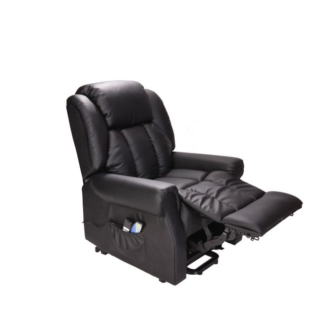 Hainworth Riser Recliner Chair with Heat and Massage - Footrest Extended