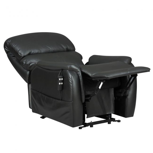 Montreal tilt in space Dual Motor Leather Riser Recliner Chair -Reclined