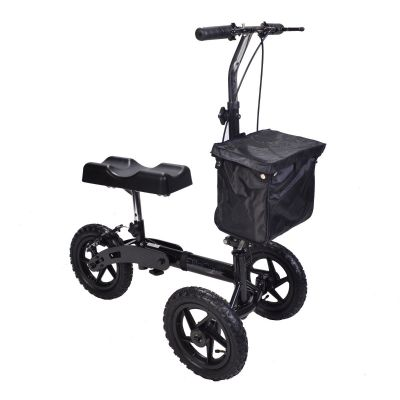 All Terrain Outdoor Knee Walker with Brakes and Adjustable Handle