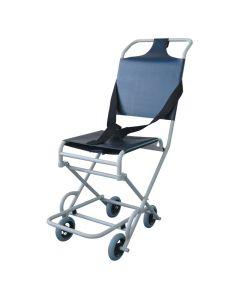 Ambulance evacuation chair with 4 castors