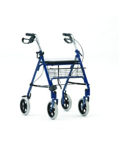 Folding rollator with tray / basket SR8 BLUE