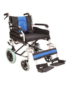 "Extra wide 20"" seat deluxe transit wheelchair ECTR02-20"