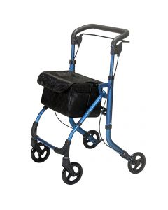 Indoor rollator walking frame trolley with tray