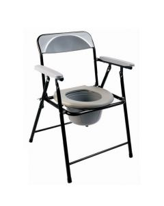 Lightweight folding commode chair top loading pot ECCOM1