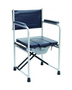 Deluxe folding padded commode chair and pan Elite Care - ECCOM2
