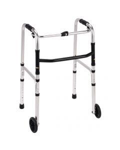 Folding walking frame with wheels / zimmer