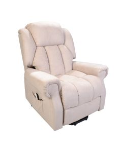 Hainworth Dual Motor rise and recliner chair with heat and massage - Beige Fabric
