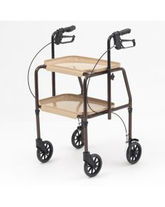 Mobility Trolley Walking Frame Indoor Rollator with Brakes