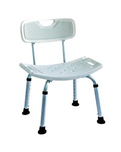 Deluxe shower / bath seat with backrest