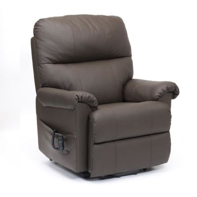 Restwell Borg Dual Motor Leather Electric Riser and Recliner Chair